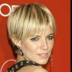 Celebrity Short Hair Style Especially Blonde Short Hair Cuts With Image Sienna Miller Short Hair Gallery Pictures 6 . Short Blonde Haircuts, Straight Hairstyles, Cool Hairstyles, Pixie Haircuts, Ponytail Hairstyles, Hairstyles Haircuts, Wedding Hairstyles, Very Short Hair, Short Hair Cuts