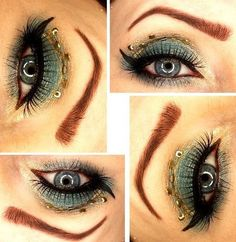 GOLD AND GREEN #eyemakeup #eyelooks
