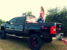 Me and my black and pink chevy
