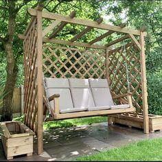 Wooden Garden Swing, Garden Swing Seat, Pergola Swing, Garden Swings, Gazebo, Garden Seating, Garden Chairs, Outdoor Seating, Outdoor Decor