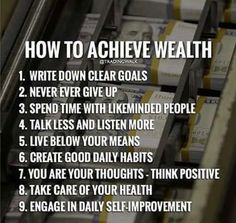 How to achieve wealth?  Must know ❤