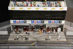 Slot car pit lane Le mans Audi R8 slotit