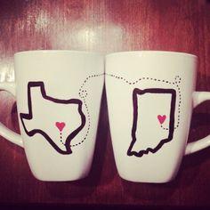 Long distance Relationship Coffee Mugs | Spotted on @lindsay eller