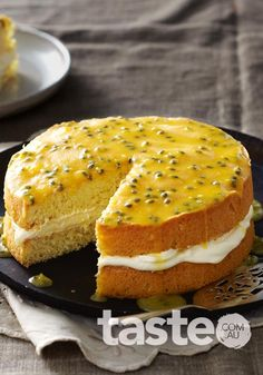 Passionfruit sponge with chantilly cream (click on the link under the photo)