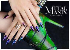 MetalManix Chameleon by Kasia Wojtczak, Indigo Team Lodz #nails #nail #chameleon…