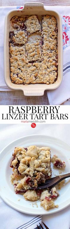 Raspberry Linzer Tart Bars: These Tart Bars are simple and quick to prepare. They are great for grab and go snacks, entertaining and tailgating parties!