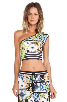 Clover Canyon Greek Tiles One Shoulder Neoprene Top