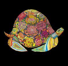 Ilustraciones psicodélicas de animales