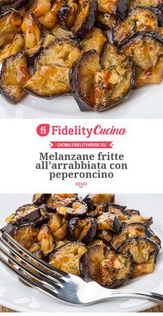 Melanzane fritte all'arrabbiata con peperoncino