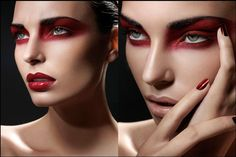 Bold red eye makeup   # Pin++ for Pinterest #