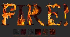 FREE PNG PSD PSP TUBES from Pewter7: PNG Six Fire Alphabet Sets
