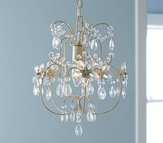 Olivia Mini Crystal Chandelier #PotteryBarnKids - Would be cute to have something like this in girls bedrooms...ikea has a similar one but can't pin it