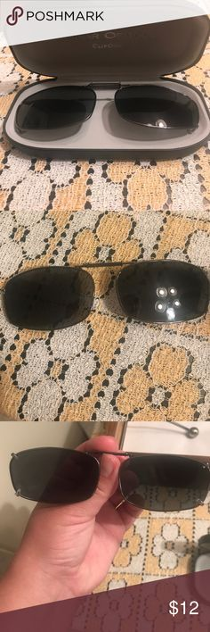 Polar Optics clip on sunglasses Used a few times. Best fits a metal frame with bridge size of 54. Polarized lenses in very good condition. Case included. Polar Optics Accessories Sunglasses
