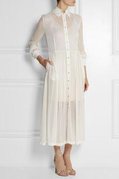 PREEN BY THORNTON BREGAZZI Barton silk-georgette midi dress