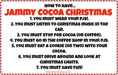 Jammy Cocoa Christmas! My kids' favorite Christmas tradition!!