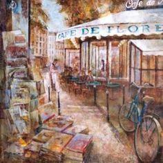 Posterazzi StGermain Paris Canvas Art - Noemi Martin (24 x 24)
