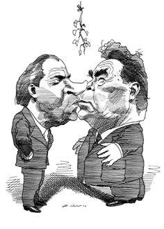 Richard Nixon and Leonid Brezhnev  June 15, 1972