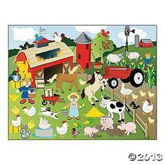 Farm scene stickers
