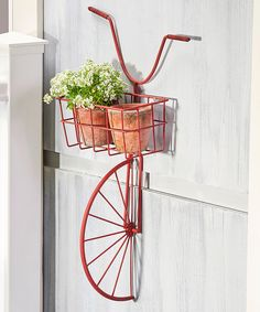 Loving this Iron Bicycle Wall-Mount Planter on #zulily! #zulilyfinds