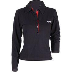 Godsen Womens Casual Basic Sporty Long Sleeve Polo Collar... https://www.amazon.com/dp/B00P27E7DW/ref=cm_sw_r_pi_dp_ae7KxbRAASTSB