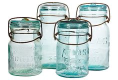 """Collection of Canning Jars  -   5.5 and 8""""H  -  OneKingsLane.com  -  ($160.00)  $115.00"""