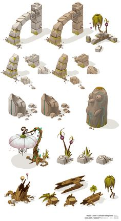 some concepts and some final works on Mojow Locow,a game of Owlient/Ubisoft on free to play.But this web game is closed now.2011/2012