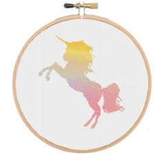 Modern Watercolour Unicorn cross stitch pattern available at www.melocadesigns.etsy.com - Modern cross stitch pattern and full cross stitch kit available at www.melocadesigns.etsy.com - 20% of 3 items, 30% off 5 items and 40% off 10 items - discount automatically applied at checkout