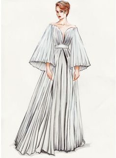 How to Draw a Fashionable Dress - Drawing On Demand Fashion Figure Drawing, Fashion Drawing Dresses, Fashion Illustration Dresses, Fashion Drawing Tutorial, Fashion Illustration Vintage, Illustration Mode, Drawing Fashion, Fashion Illustrations, Dress Design Drawing