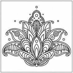 ▷ 1001 + ideas and inspirations for beautiful pictures to paint! - coloring pictures, big lotus, lotus flower with mandala motifs, small circles, tattoo template - Mandalas Drawing, Mandala Coloring Pages, Colouring Pages, Adult Coloring Pages, Coloring Books, Zentangles, Mandala Design, Mandala Art, Paisley Design
