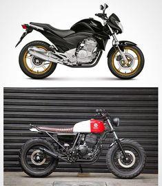 New scrambler motorcycle custom bikes honda cb ideas Vintage Motorcycles, Custom Motorcycles, Custom Bikes, Cafe Racer Honda, Cafe Racer Bikes, Honda Cb 300, Cbx 250, Tracker Motorcycle, Vintage Cafe Racer