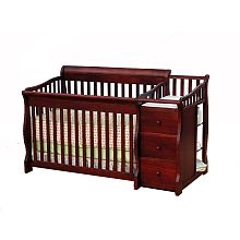 Sorelle Princeton 4-in-1 Convertible Crib With Changer - Cherry