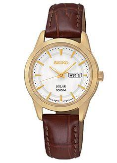 Seiko SUT164p2 Solar Ladies White Dial Brown Leather Starp Gold Tone Case Watch Seiko http://www.amazon.com/dp/B00MCB91PU/ref=cm_sw_r_pi_dp_tH0Xwb04J4PTM