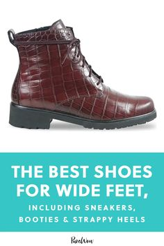 The Best Shoes for Wide Feet, Including Sneakers, Booties & Strappy Heels #purewow #shoppable #boots #shoes #shopping #fashion Chunky Loafers, Naturalizer Shoes, How To Make Shoes, Wide Feet, Strappy Heels, Comfortable Shoes, Knee Boots, Running Shoes, Fashion Shoes
