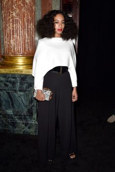 Solange Knowles' matte red lip. See it and 9 other early spring beauty looks worth trying.
