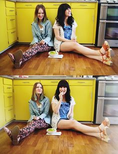 Sister style (in our yellow kitchen!)