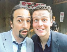 And a goofy faced selfie | Community Post: 15 Photos That Prove Lin-Manuel Miranda And Johnathan Groff's Friendship Can't Be Beat