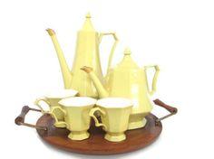 Mid Century Tea Set Teapot Coffee Pot Set Serving by ElmPlace, $145.00