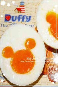 ハロウィンキャラ弁ミッキーシェイプゆで卵の画像