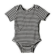 Goat Milk Striped Organic Short Sleeve One-piece from Noble Carriage Baby Boy Outfits, Kids Outfits, Designer Baby Clothes, Organic Baby Clothes, Stylish Kids, Carters Baby, Unisex Fashion, Striped Shorts, Second Hand Clothes