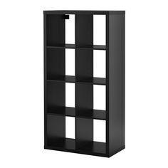 IKEA - KALLAX, Shelf unit, high gloss white, , You can use the furniture as a room divider because it looks good from every angle. Ikea Bookshelf Hack, Ikea Kallax Shelving, Kallax Shelf Unit, Cube Bookcase, Shelving Units, Ikea Expedit, Expedit Bookcase, Ikea Eket, Shelf Units