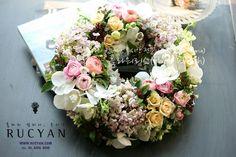 플라워리스(Flower Wreath)_[플라워스쿨, 루시안(RUCYAN)]전문가반 플라워레슨 :: 네이버 블로그