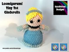 Rainbow Loom Loomigurumi Tiny Tot Cinderella made w/ Rainbow Loom Bands - YouTube