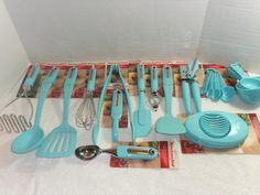 Details About Kitchenaid Aqua Turquoise Various Utensils New With Tags Teal Kitchen50s