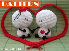 Bigli Migli small  crochet pattern amigurumi por TopysWorldShop