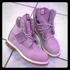 Timberlands boots ! Brand new ! Brand new! Purple timberlands boots ✨. Timberland Shoes Ankle Boots & Booties