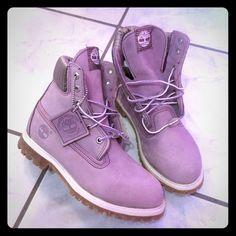 Timberlands boots ! Brand new ! Brand new! Purple timberlands boots ✨. Timberland Shoes Ankle Boots & Booties