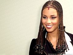 Alicia Keys has been known by her sexy & sweet, yet diverse hairstyles which range from the long to the short like; the pixie-cut, the bob & the cornrows. Description from pinterest.com. I searched for this on bing.com/images