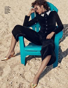 Rising star Alanna Arrington graces the pages of Vogue Arabia's July 2017 issue. Photographed by Michael Schwartz (Atelier Management), the American beauty tries on standout looks from pre-fall collections. Stylist Emily Barnes selects the perfect pieces for the transitional season. From knitwear to breezy blouses, the curly haired beauty wears the designs of Joseph, Miu...[Read More]