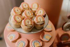 Rainbow First Birthday, Girl First Birthday, Baby Birthday, First Birthday Parties, First Birthdays, Rainbow Baby, Birthday Ideas, Rainbow Cupcakes, Girl Cupcakes