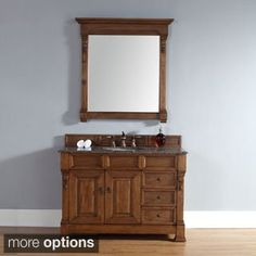 Shop for 48-Inch Brookfield Country Oak Single Drawer Vanity. Get free delivery at Overstock.com - Your Online Furniture Outlet Store! Get 5�0in rewards with Club O! - 16848758